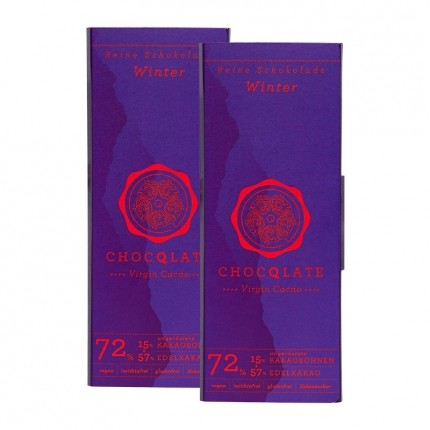 ChocQlate Bio Virgin Cacao Schokolade, Winterschokolade