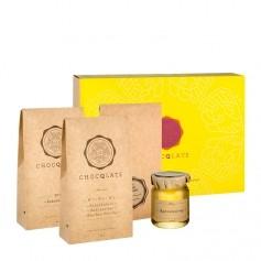 Chocqlate 240g Schokoset zum Selbermachen + Form + Gadgets, gelb