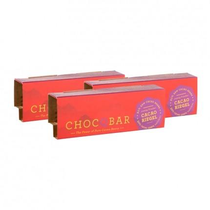 3 x ChocQlate Økologisk ChocQbar, Ren kakao