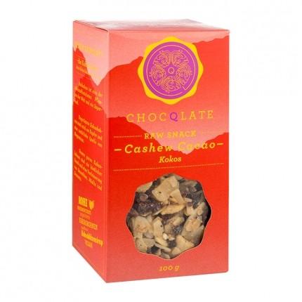 ChocQlate Bio Raw Snack, Cashew-Cacao-Kokos (100 g)