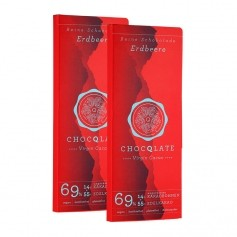 ChocQlate Virgin Cacao Schokolade, Erdbeere