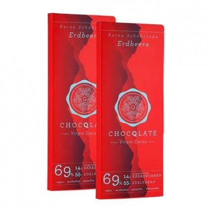ChocQlate Bio Virgin Cacao Schokolade, Erdbeere...