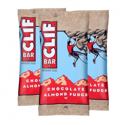 3 x CLIF Bar Chocolate Almond Fudge, Riegel