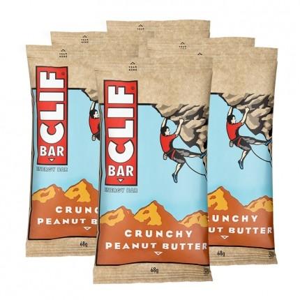 6 x CLIF BAR, Crunchy Peanut Butter
