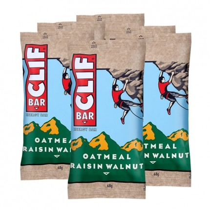 6 x CLIF BAR, Oatmeal Raisin Walnut