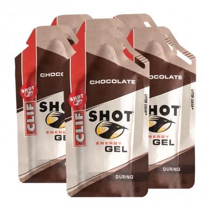 6 x CLIF Bar SHOT GEL, Chocolate