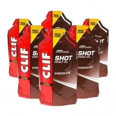 6 x CLIF Bar Shot Gel Chocolate