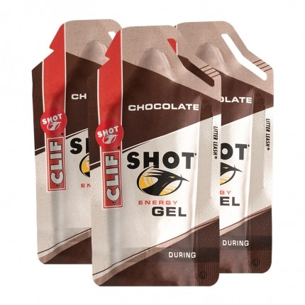 3 x CLIF Shot Gel, Chocolate