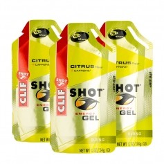 3 x CLIF Shot Gel, Citrus