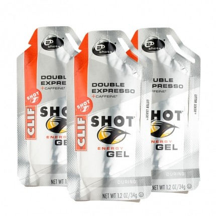 3 x CLIF Shot Gel, Double Espresso