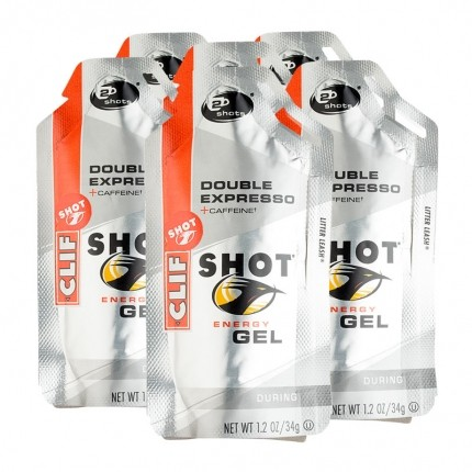 6 x CLIF Shot Gel, Double Espresso