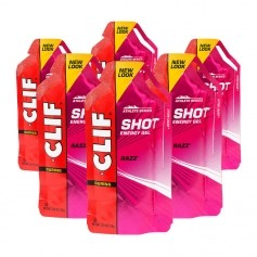 CLIF, Shot Gel, Razz, lot de 6