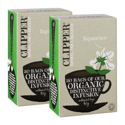2 x Clipper Tea - Lakris Urtete ØKO