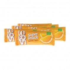 6 x CocoVi SuperSnack -välipalapatukka, appelsiini, luomu