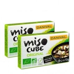 DANIVAL, Miso cube bio, lot de 2