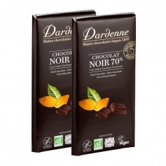 Dardenne, chocolat noir 70 %, tablette, lot de 2