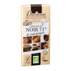 TABLETTE CHOCOLAT NOIR  POUR CUISINE