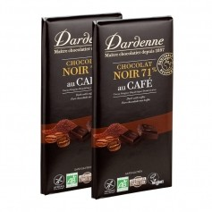 Dardenne, chocolat noir tradition au café, tablette, lot de 2