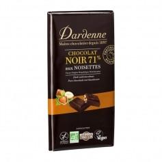 TABLETTE CHOCOLAT NOIR TRADITION AUX NOISETTES