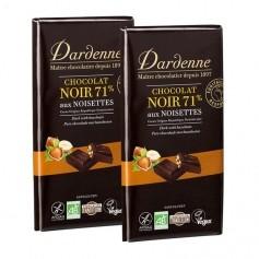 Dardenne, Chocolat noir aux noisettes, tablette, lot de 2