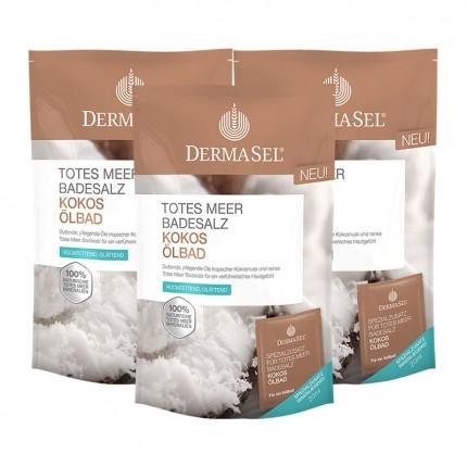 DermaSel Totes Meer Badesalz Ölbad, Kokos (3 x ...