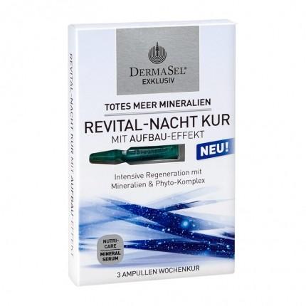 Dermasel Exklusiv Totes Meer Mineralien Revital-Nacht Ampullen-Kur