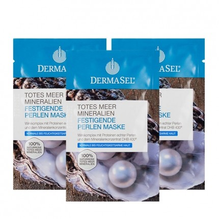 DermaSel, Masque nacre mer Morte, lot de 3
