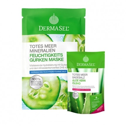 DermaSel SPA Care Set - Moisture Face Mask plus Aloe Vera Bath