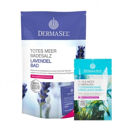 DermaSel SPA Care Set - Relaxing Face Mask plus Lavender Bath