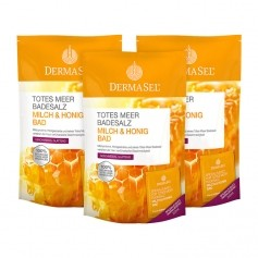 DermaSel SPA Dead Sea Salt Milk & Honey Bath Salts
