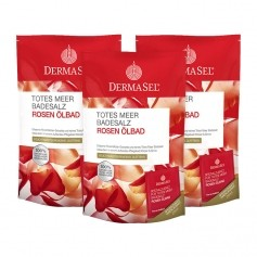 DermaSel SPA Dead Sea Salt Rose Charm Bath Salts