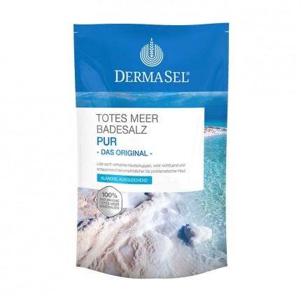 3 x DermaSel SPA Totes Meer Badesalz Pur