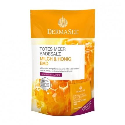 3 x DermaSel SPA Totes Meer Badesalz Milch + Honig