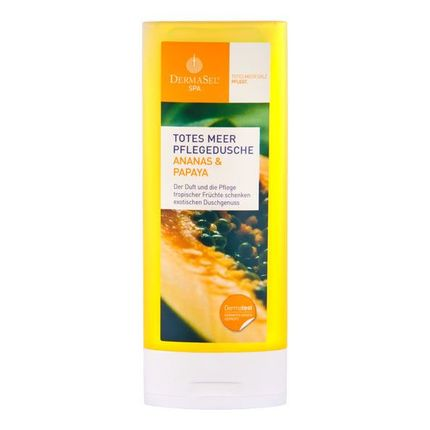 Köpa billiga DermaSel SPA Hälsodusch från Döda havet med ananas + papaya online