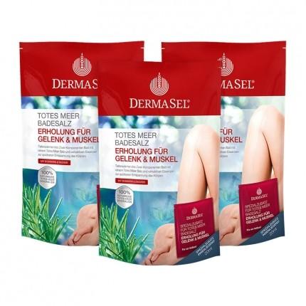 3 x Dermasel SPA Totes Meer Badesalz Erholung für Gelenk & Muskel