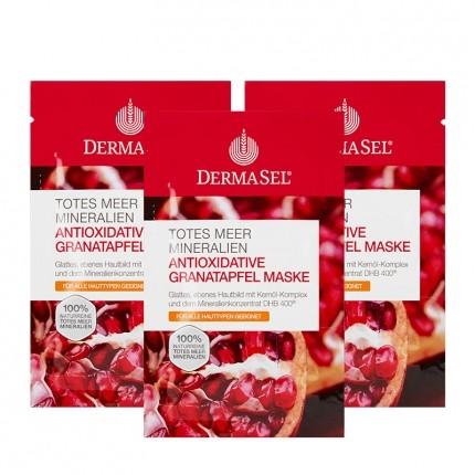3 x DermaSel SPA Totes Meer Pflegemaske Granatapfel