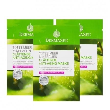 DermaSel Totes Meer Mineralien Glättende Anti-Aging Maske (3 x 12 ml)