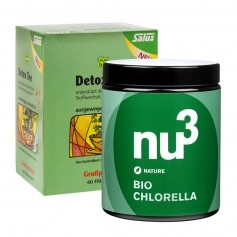 Kleines Detox Paket, nu3 Bio Chlorella + Salus Detox Tee