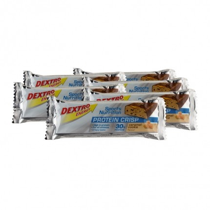 6 x Dextro Energy Protein Crisp Caramel-Cookie, Riegel