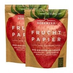 Dörrwerk Fruchtpapier, Erdbeere-Apfel