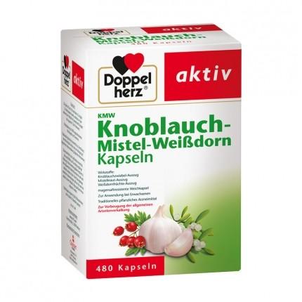 Doppelherz Knoblauch-Kapseln mit Mistel + Weißdorn