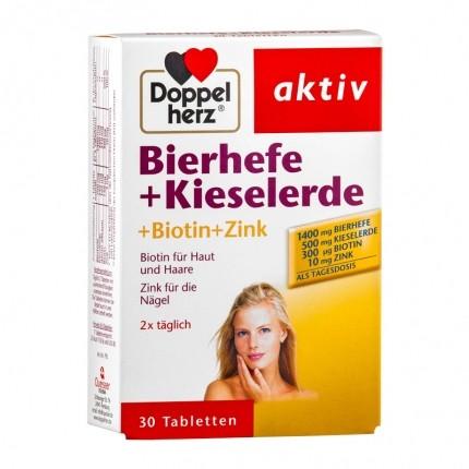 Doppelherz Bierhefe + Kieselerde Doppelpack, Tabletten