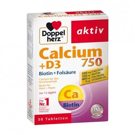 Doppelherz Calcium 750 + D3 im Doppelpack, Tabletten