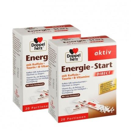 Doppelherz Energie-Start Doppelpack, Direktgranulat