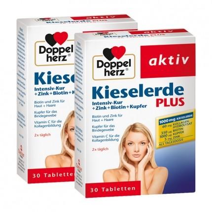 Doppelherz Kieselerde Plus im Doppelpack, Tabletten