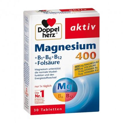 Doppelherz Magnesium 400 + B1 + B6 + B12 Tablets Double Pack