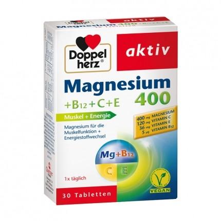 Doppelherz Magnésium aux vitamines C et E, comprimés