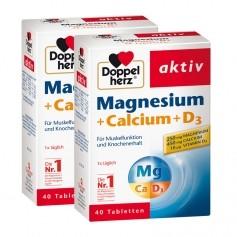 Doppelherz Magnesium + Calcium + D3 Doppelpack, Direktgranulat