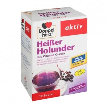 Doppelherz Heißer Holunder Doppelpack, Pulver