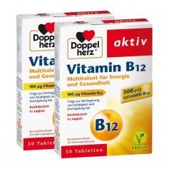 Doppelherz Vitamin B12 Doppelpack, Tabletten